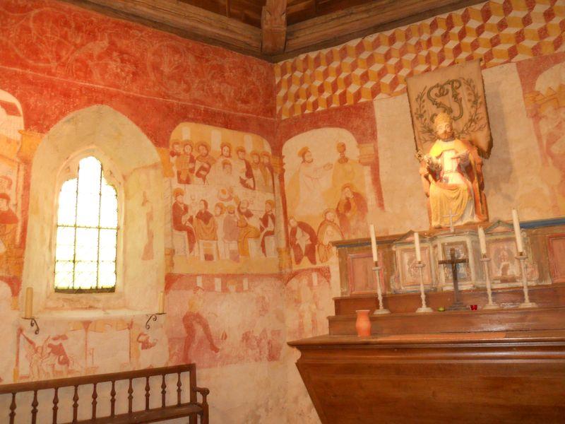 Peintures murales Chapelle de Réveillon