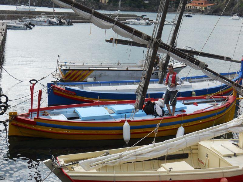 Vieux bateaux à Collioure