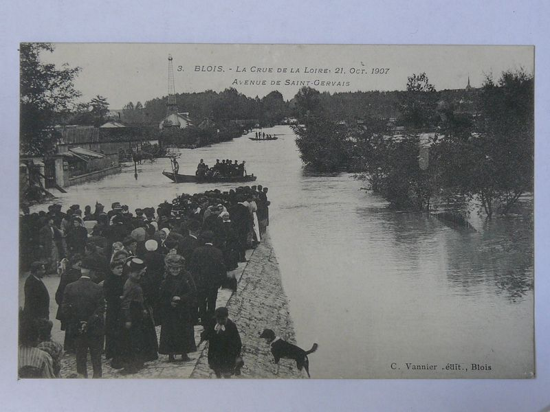 Blois, crue avenue de St Gervais