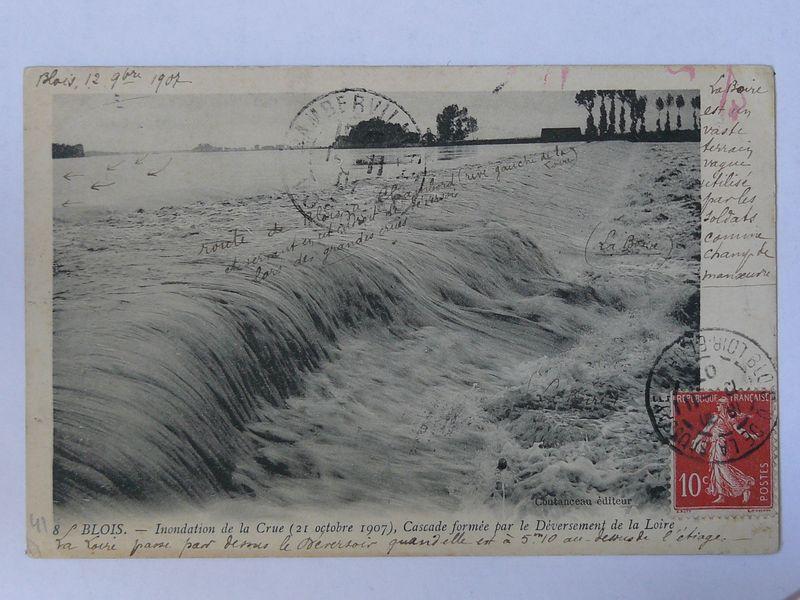 Blois, crue du 21 octobre 1907